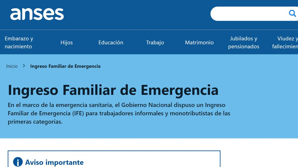 Ingreso Familiar de Emergencia.